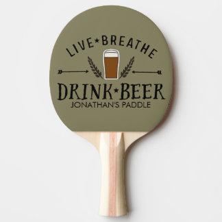 生きているビールPongのヒップスターによっては飲み物ビールカスタムが呼吸します 卓球ラケット