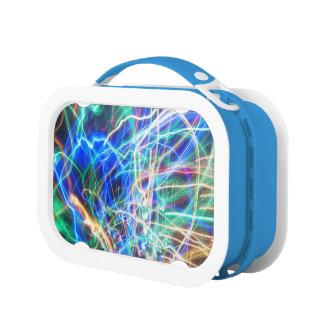 生きているワイヤー芸術家によるC.L.ブラウン青いYuboのお弁当箱 ランチボックス