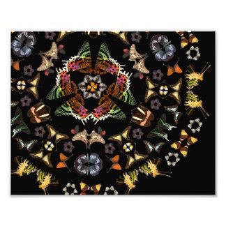 生きている万華鏡のように千変万化するパターン: 蝶パターン フォトプリント