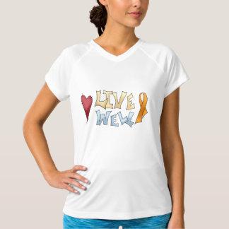 生きている十分オレンジ認識度のリボン Tシャツ