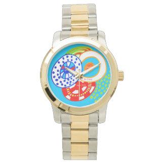 生きている夢は熱狂する持っていますおもしろいのカラフルな落書きをです 腕時計