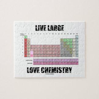 生きている大きい愛化学周期表の要素 ジグソーパズル