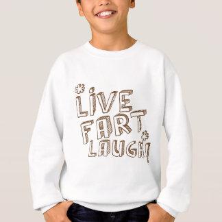 生きている屁の笑い! かわいく、おもしろいなfartyデザイン スウェットシャツ
