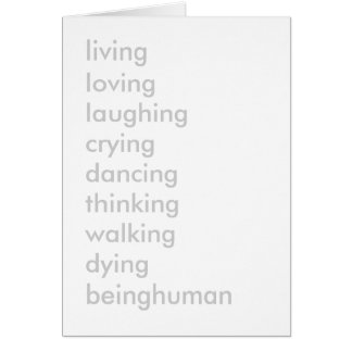 生きている愛する笑う泣き叫びの踊る考えること… カード