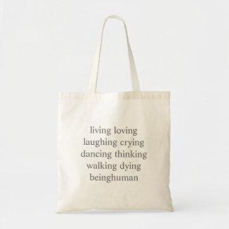 生きている愛する笑う泣き叫びの踊る考えること… トートバッグ