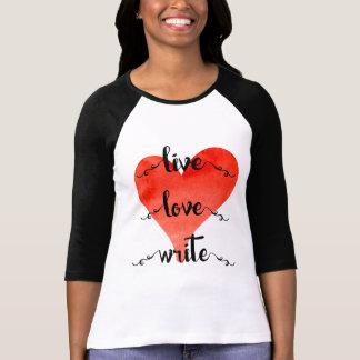 生きている愛はTシャツを書きます Tシャツ