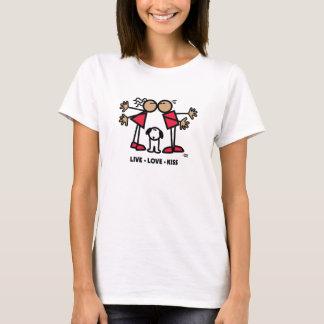 生きている愛キス Tシャツ