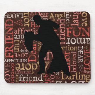 生きている愛ダンス-社交ダンスのカップルのマウスパッド マウスパッド