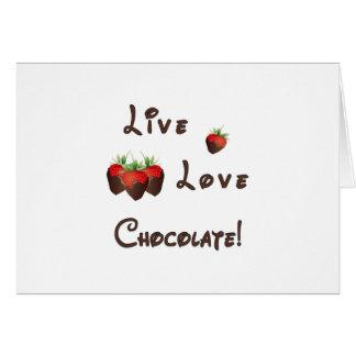 生きている愛チョコレート カード