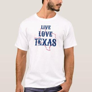 生きている愛テキサス州メンズTシャツ Tシャツ