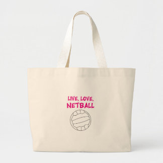 生きている愛ネットボール ラージトートバッグ