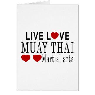 生きている愛ムエタイの武道 カード