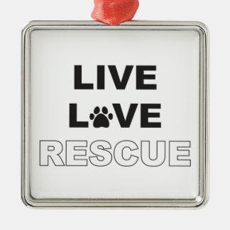生きている愛救助 メタルオーナメント