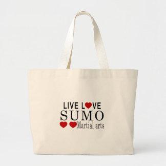 生きている愛相撲の武道 ラージトートバッグ