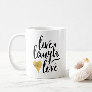 生きている愛笑いのコーヒー・マグ コーヒーマグカップ
