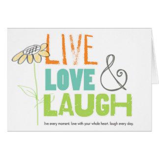 生きている愛笑いの挨拶状 カード