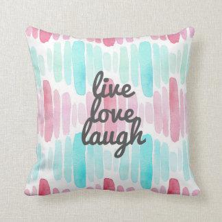 生きている愛笑いの水彩画の装飾用クッション クッション