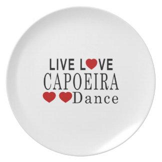 生きている愛CAPOEIRAダンス プレート