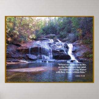 生きている水ジョンの7:38ポスタープリント ポスター