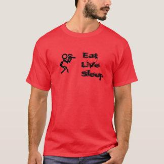 生きている睡眠のペイントボールを食べて下さい Tシャツ