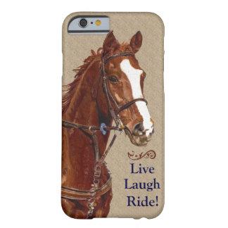 生きている笑いの乗車! 馬 BARELY THERE iPhone 6 ケース