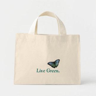 生きている緑のトート ミニトートバッグ