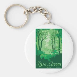 生きている緑-木Hugger キーホルダー