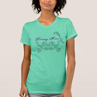 生きている自由な女性のタンク Tシャツ