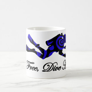 生きている自由な飛び込みの懸命、種族のダイバー コーヒーマグカップ
