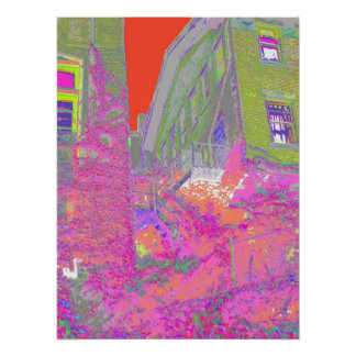 生きている色のファイア・エスケープ ポスター