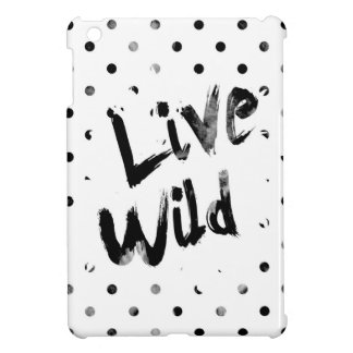 生きている野生の、白黒タイポグラフィ iPad MINIケース