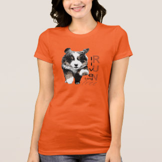 生きている長いの操業自由な子犬のTシャツ Tシャツ