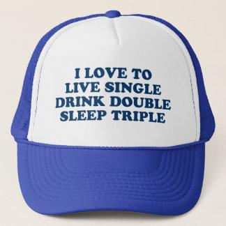 生きている飲み物の倍の睡眠の三倍を選抜して下さい キャップ