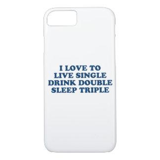 生きている飲み物の倍の睡眠の三倍を選抜して下さい iPhone 8/7ケース