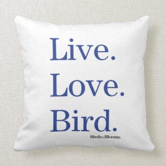 生きている。 愛。 鳥 クッション