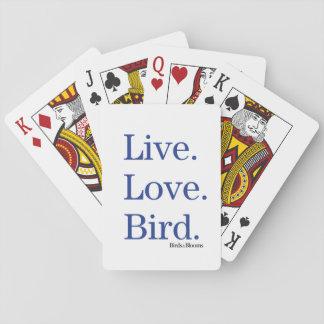 生きている。 愛。 鳥 トランプ