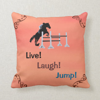 生きている! 笑い! ジャンプ! 乗馬の馬 クッション