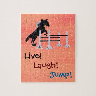 生きている! 笑い! ジャンプ! 乗馬の馬 ジグソーパズル