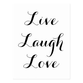 生きている-笑い-愛 ポストカード