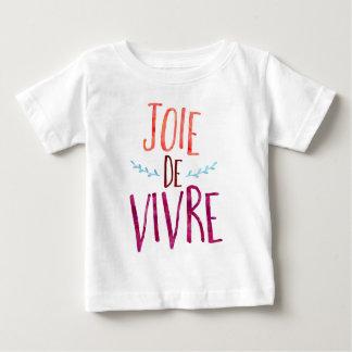 生きる喜び、フランス人の引用文 ベビーTシャツ