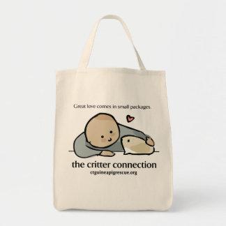 生き物のつながりの食料雑貨のトート トートバッグ