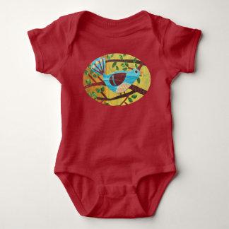 生まれたばかりのなワイシャツ-ブルーバードの歌うこと ベビーボディスーツ