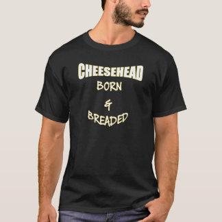 生まれる及びパン粉でまぶされるCheesehead Tシャツ
