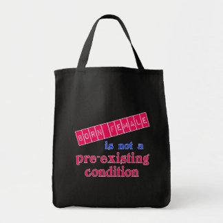 生まれる女性は前にある条件ではないです トートバッグ