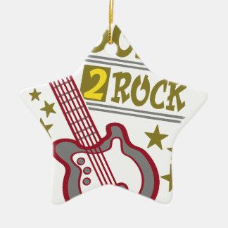 生まれる石のギター、ギタリストのデザイン セラミックオーナメント