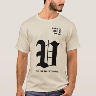 生まれる自由に死にます住んで下さい Tシャツ