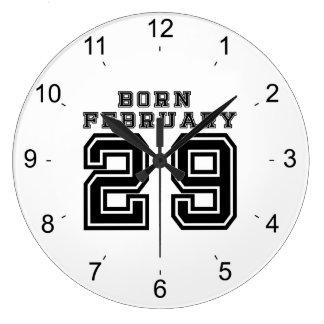 生まれる2月29日 ラージ壁時計