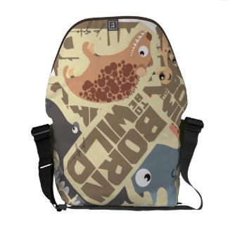 生まれる(あるため)野生のアフリカの漫画動物は袋に入れます メッセンジャーバッグ