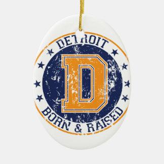 生まれ、上がるデトロイト セラミックオーナメント