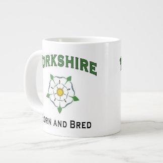 生まれ、繁殖するヨークシャ ジャンボコーヒーマグカップ